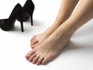 足と靴の写真