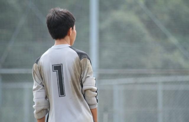 中学生のゴールキーパー