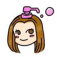 大衆コンプレックスのキャラクターのシャンプーのイラスト